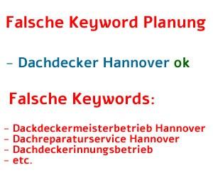 Falsche Keywords